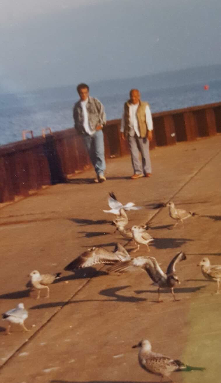 A walk with my Dad on lake Superior shore. I dont remember much of the conversation; but I vividly remember our silence ,! RIP