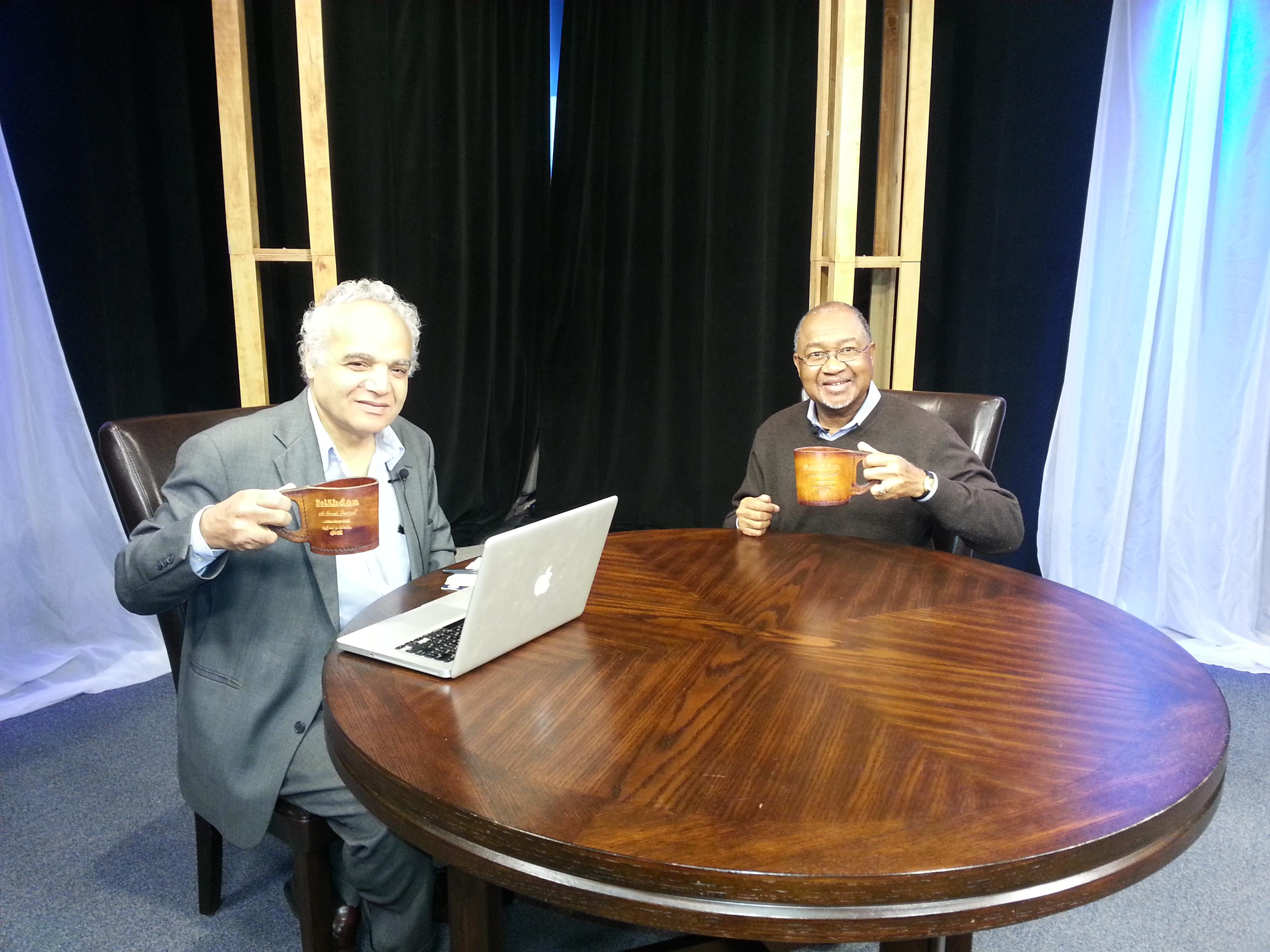 BelAhdan with Dr. Sherif Keita …Director of Remembering Nokutela Film