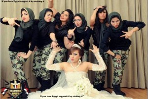 Sisi wedding in militray fatige