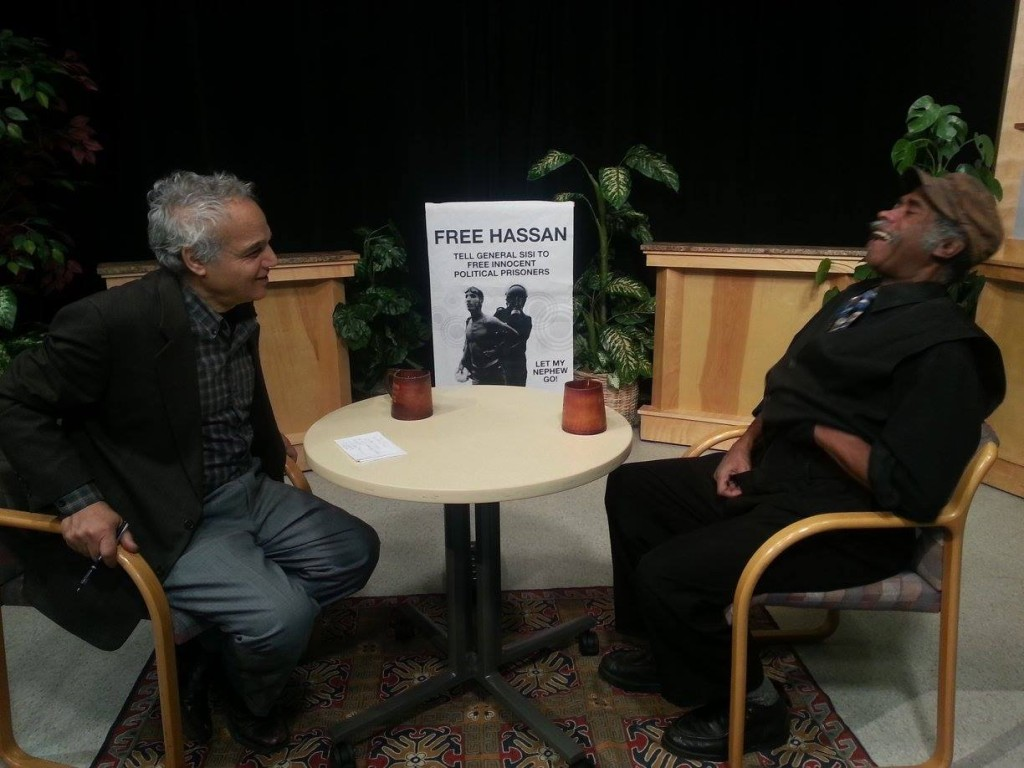 Belahdan with writer Dwight Hobbes