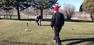 Drilling on the tee Box
