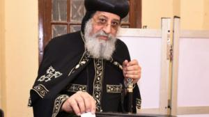 election egypts_coptic_orthodox_pope_tawadros_ii_casting_his_ballot_paper_during_the_vote_on_a_constitutional_reform_in_cairo._epa