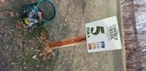 Golfing Tee sign