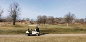 Golfing sign