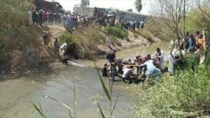 Souhag Train crash villagers helping