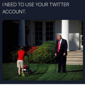 Trump needs a new twitter account